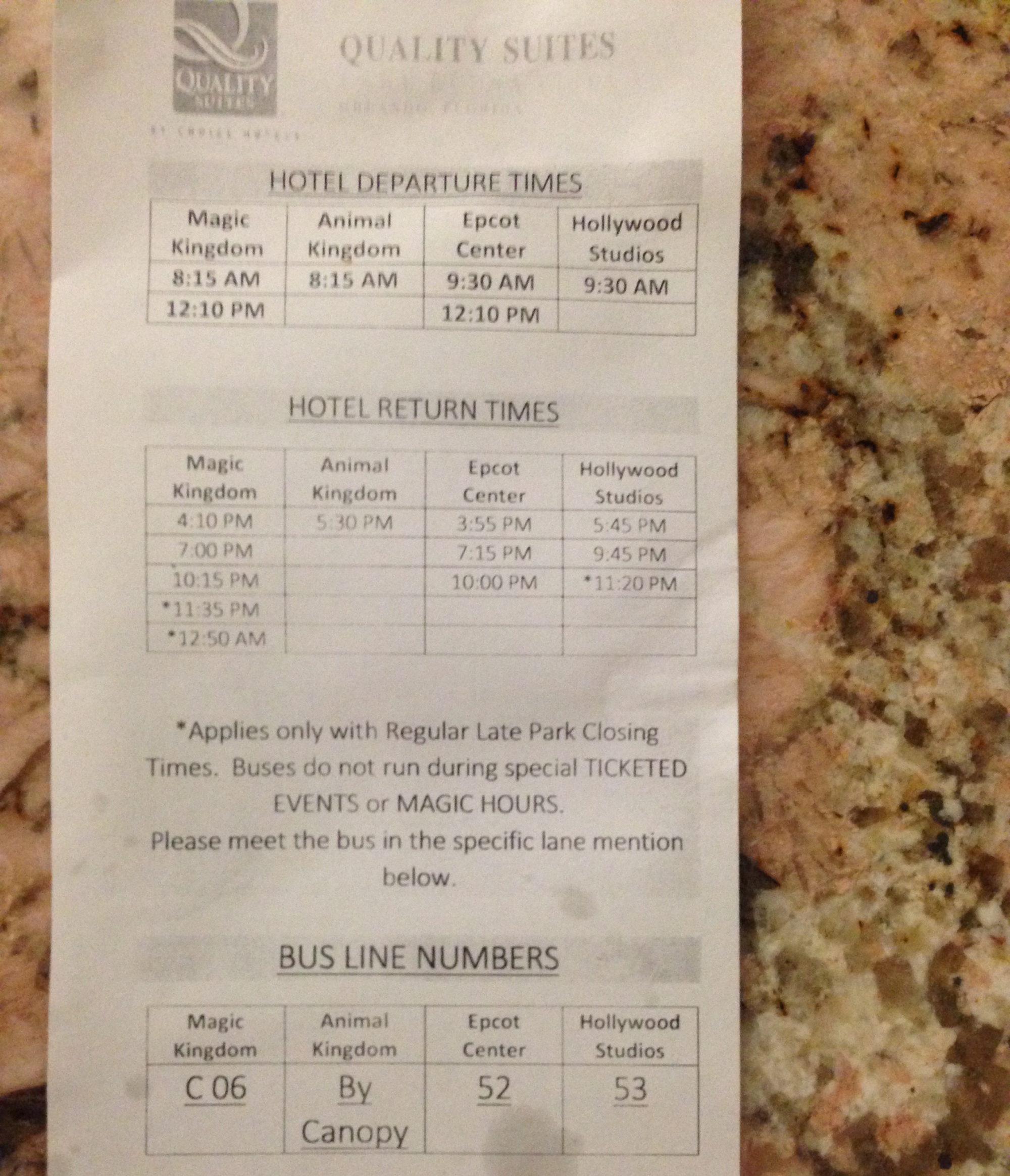 wdw-bus-schedule
