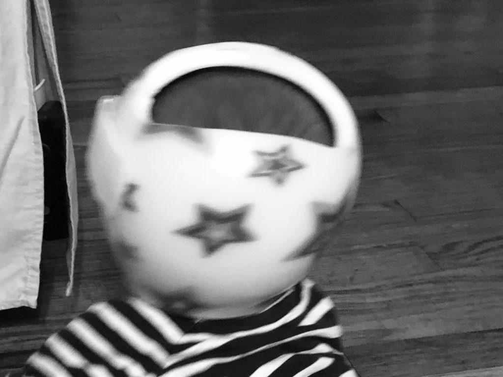ヘルメット白黒