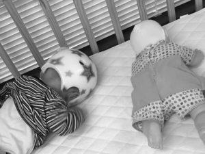 ヘルメットと赤ちゃん